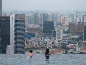 Atemberaubender Blick vom Pool über die City